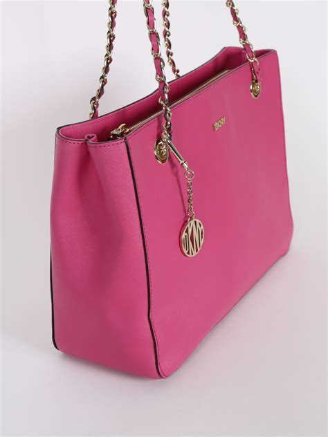 Dkny Pink dkny saffiano leather pink chain bag luxury bags