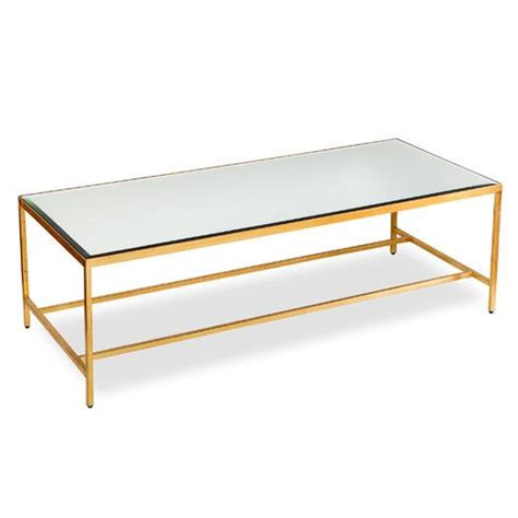 Floating Mirrored And Gold Coffee Table Coffee Table Gold