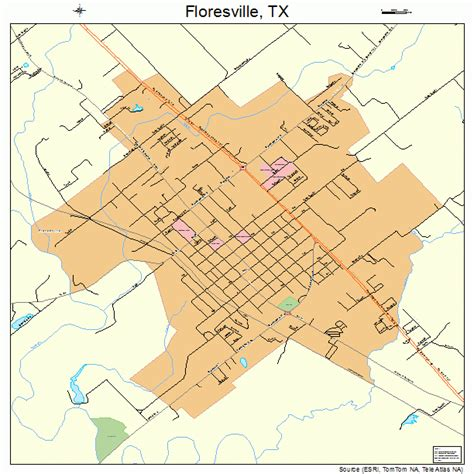 wilson county texas map floresville texas map 4826160