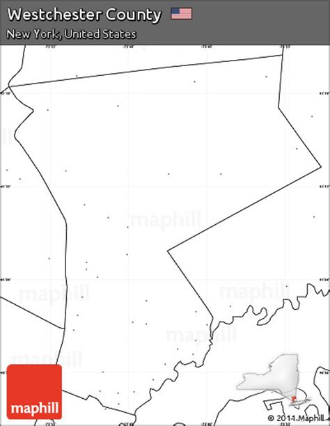 Westchester County Records Free Free Blank Simple Map Of Westchester County No Labels