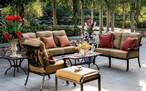 patio furniture seating groups patio furniture seating chat cast aluminum 7pc