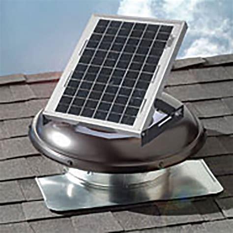 800 Sq Ft Low solar power roof vent wimsatt building materials