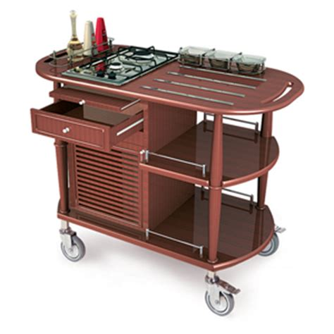Spice Cart Geneva 70362 Flambe Cart With 4 Built In Trivet Rods
