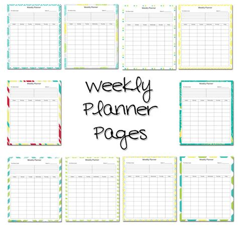 printable weekly lesson plan pages lawteedah weekly lesson planner