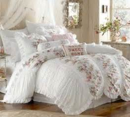 Cream Comforters Shabby Chic Bedroom Sets Foter