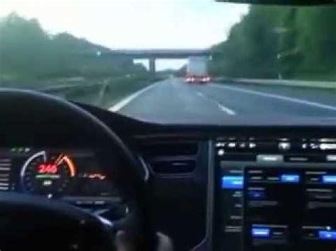 Tesla High Speed Tesla Model S P85d At 250 Km H Top Speed At German