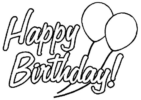happy birthday coloring pages happy birthday coloring pages only coloring pages