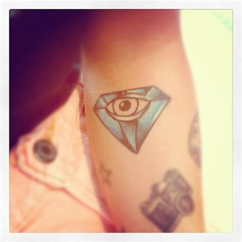diamond tattoo by eye meaning eye tattoos and designs page 186