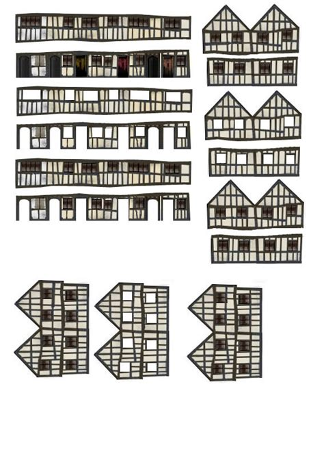 printable tudor house template making a house
