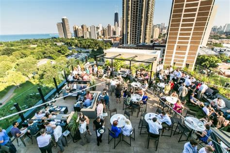 rooftop lincoln hotel small bites big view at the j chicago illinois