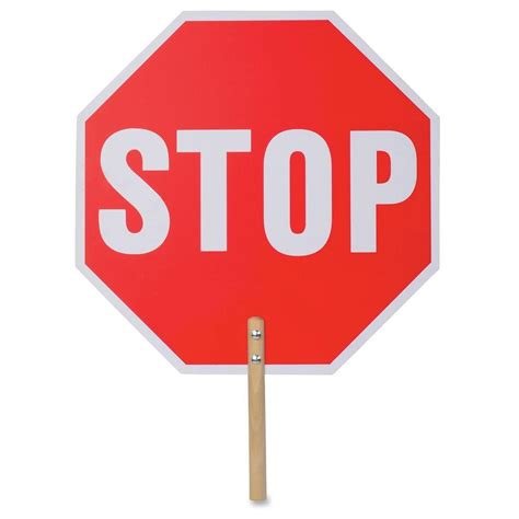 Stop X tatco 18 in x 18 in handheld stop sign tco17520 the home depot