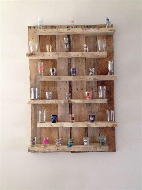 pallet shot glass display worden shot glass holder