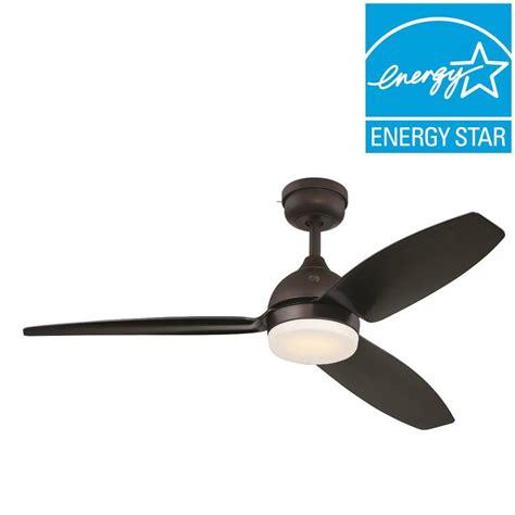 ge 54 in led indoor outdoor bronze ceiling fan