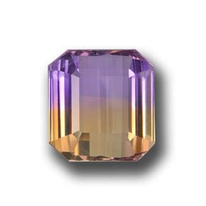Ametrine 5 97ct 24 carat bi color ametrine gem from brazil and