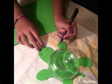 como hacer una alcancia con vasos plasticas como hacer una alcancia en forma de tortuga youtube