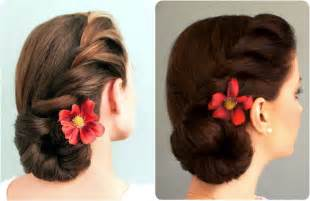 twisted bun hairstyle on american rope braided side bun youtube