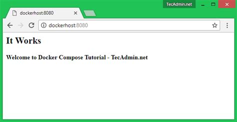tutorial docker compose docker compose test tecadmin