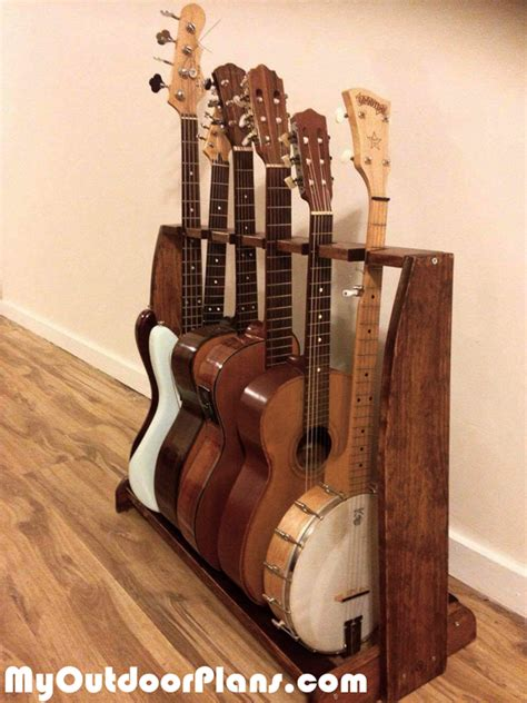 diy  guitar stand myoutdoorplans  woodworking