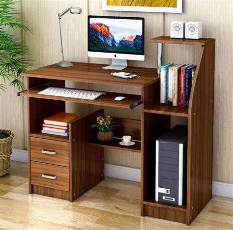 computer desk with drawers and shelves malibu deluxe computer desk with drawers and shelves walnut