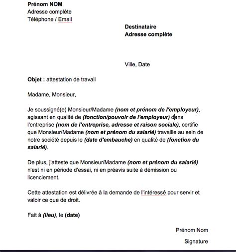 Modèle Certificat Administratif Changement De Dénomination Sociale