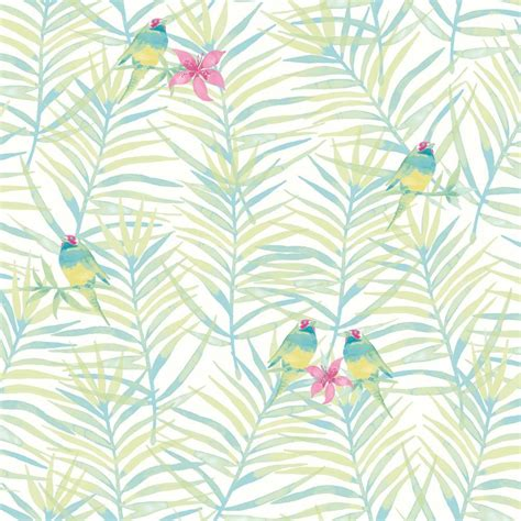 Rasch paradise palm leaf pattern tropical bird motif metallic wallpaper roll 653449767975 ebay