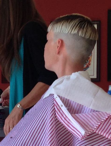 bowl haircut shaved nape haircut in process bowlcut pinterest the long