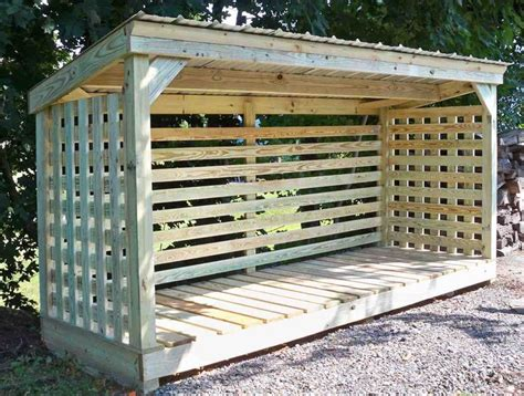 firewood shed shelter rack images  pinterest