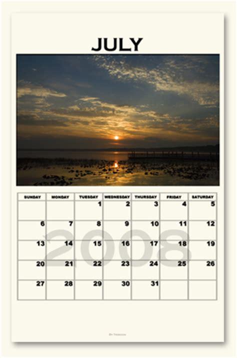 July 2008 Calendar Sergeant Calendar July 2008