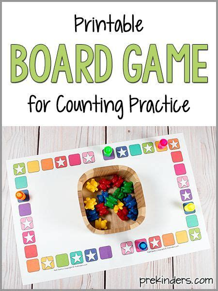 printable math board games kindergarten teach counting skills with this board game math
