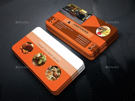 Catering Business Card Templates Psd by Restaurant Business Cards Templates Free Restaurant
