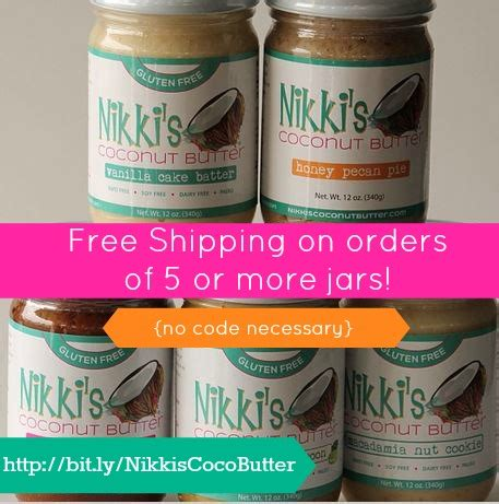 nikki's coconut butter coupon code