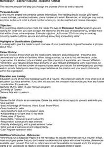 Resume Sles For Montessori Teachers Ct Resume Sales Lewesmr