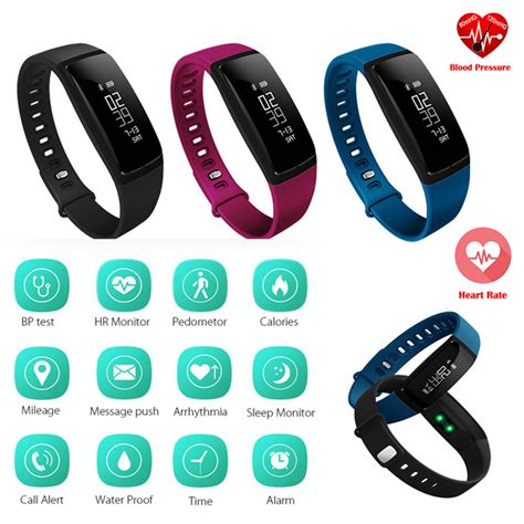 G19 Rate Fitness Tracker Blood Pressure Smart Band blood pressure smart wristband v07 pedometer smart