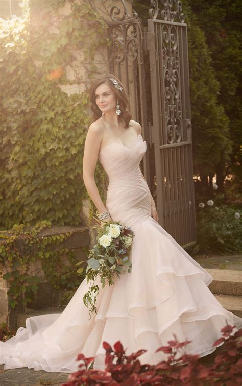 pleated wedding dress essense  australia