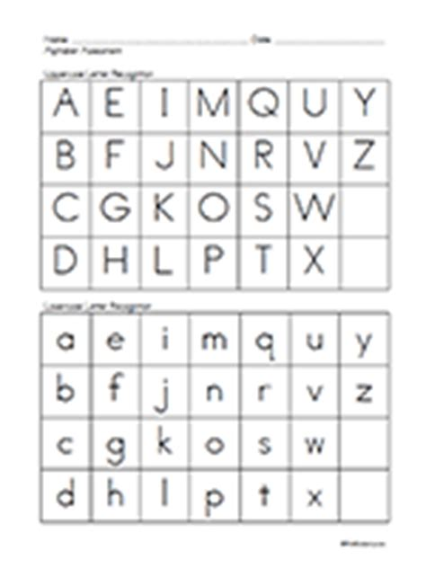 printable alphabet recognition assessment pre k assessment forms prekinders