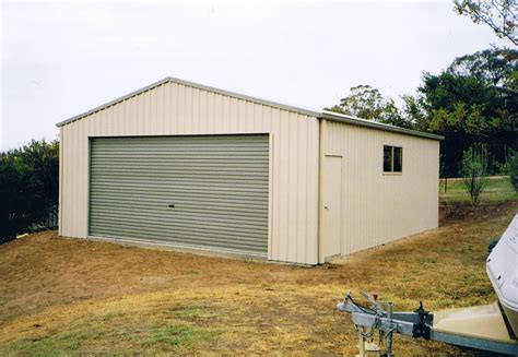 gable entry boat garage wide roller door shed world