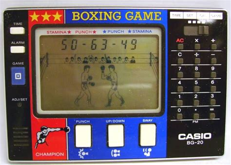 calculator the game casio handheld game with calculator boxing game
