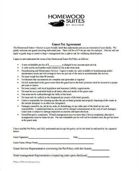 sample pet agreement forms   documents