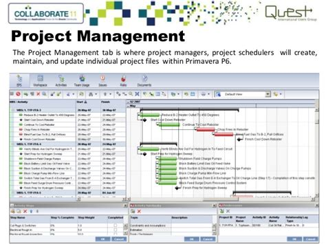project manufacturing implementing primavera enterprise project management in