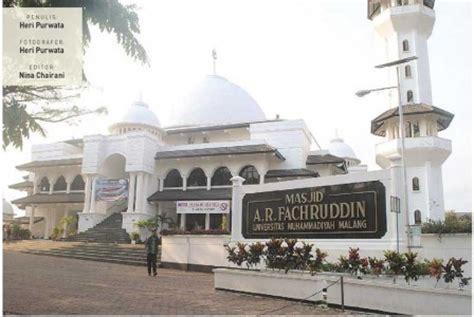 Cermin Malang masjid ar fachruddin umm cermin kus modern republika