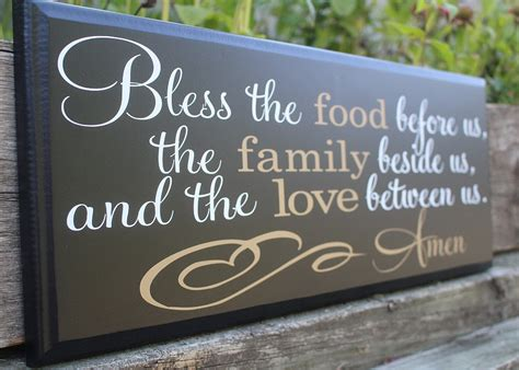 Dining Room Signs by Bless The Food Before Us Wood Sign Dining Room Wall