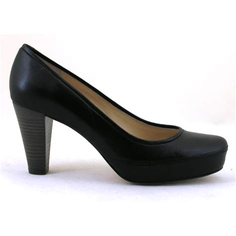 Court Shoes by Nubia Soft Black Leather High Heel Court Shoe From Unisa