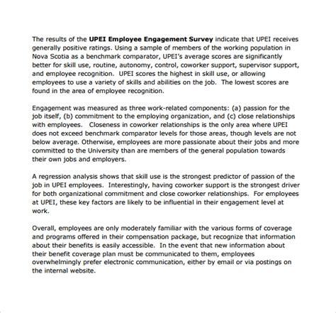 12 Employment Engagement Survey Sles Sle Templates Employee Engagement Template