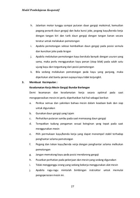 Daun Gergaji 3 Lks 3 Penggalan 1 Mpk Standar Keselamatan Menggunakan