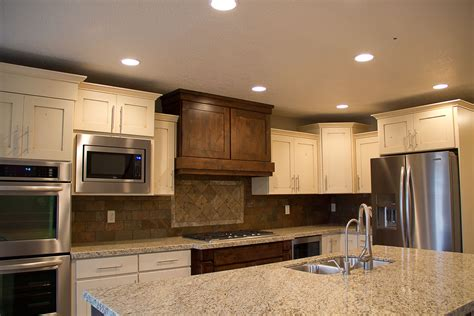 different color kitchen cabinets two different color cabinets kitchen