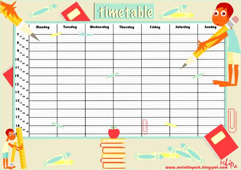 class schedule office templates