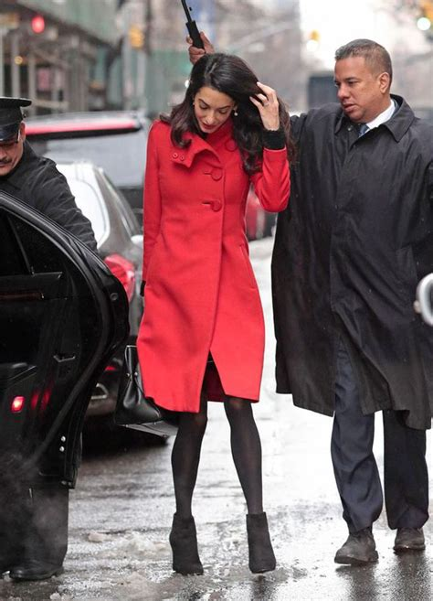 Amel Maroon amal clooney in spotted in manhattan in paule