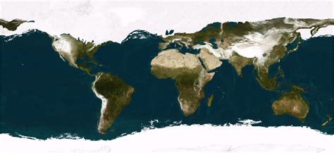 realistic satellite view   world