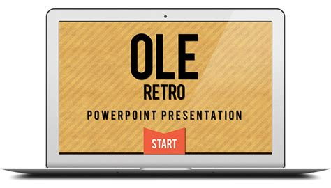 powerpoint templates free retro free retro powerpoint template