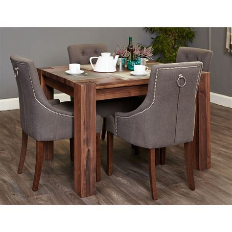 Solid Walnut Dining Table And Chairs Strathmore Solid Walnut Furniture Small Dining Table And